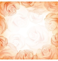 Abstract romantic background in beige colors vector image