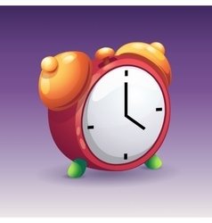 Image of red alarm clock with yelow bells vector