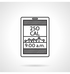 Calories counter black line icon vector