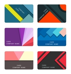 Set material design card and banners vector