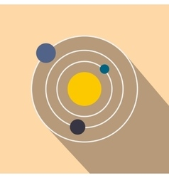 Solar system flat icon vector