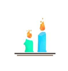 Lowpoly candles vector image