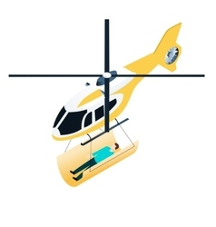 Isometric emergency helicopter vector