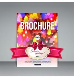 Christmas brochure template abstract flyer design vector