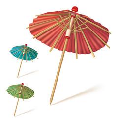 Cocktail or drink umbrella vector