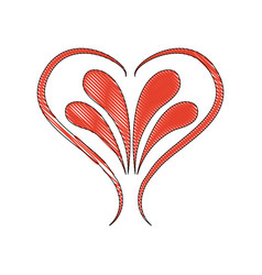 Decorated ornament romantic leaves design image vector