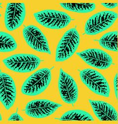 Dieffenbachia tropical leaf seamless pattern vector
