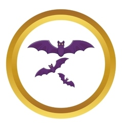 Halloween bats icon vector