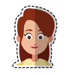 happy pretty woman cartoon icon imag vector image vector image