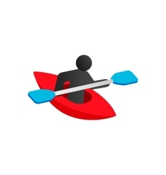 Kayak isometric 3d icon vector image