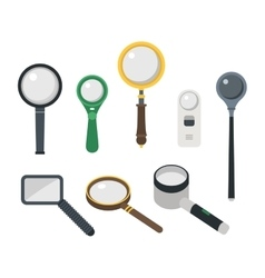 Magnifier loupe icons vector image vector image