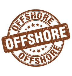 Offshore brown grunge stamp vector