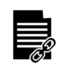 Paper document and link icon vector