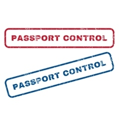 Passport control rubber stamps vector
