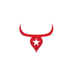 Red bull taurus logo template icon vector