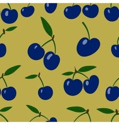 Seamless pattern plum fruit randomly scattered vector
