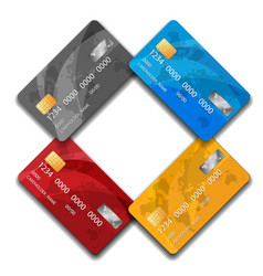 set of premium credit cards isolated vector image