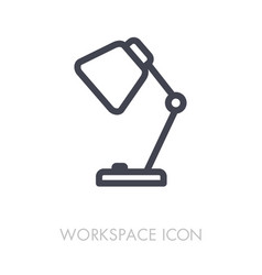 table lamp outline icon workspace sign vector image vector image
