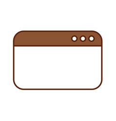 template webpage isolated icon vector image vector image