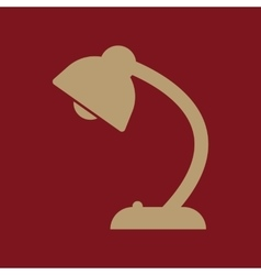 The table lamp icon reading-lamp and lighting vector
