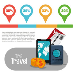 Time travel infographic vacation info vector