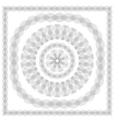 Wave Frames Set of Guilloche Elements vector image vector image