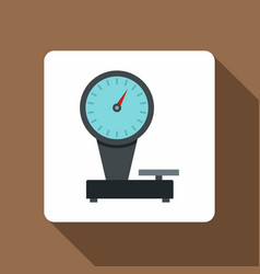 Weight scale icon flat style vector