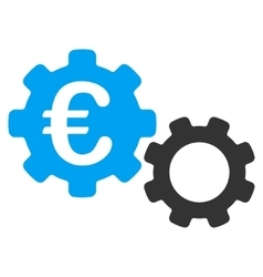 Euro mechanics flat icon vector