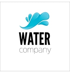 Water drop logo design template vector