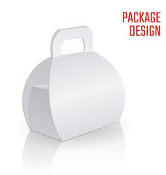 Clear gift carton box vector