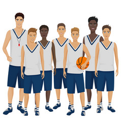 The young basketball vector
