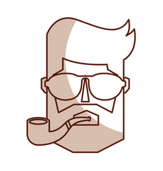 Vintage man face cartoon vector