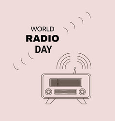Radio day vector