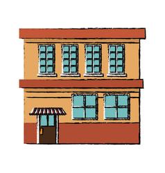 Building facade store exterior shop structure vector