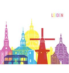 Leiden skyline pop vector