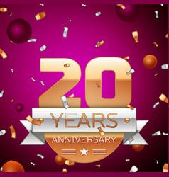 Twenty years anniversary celebration design vector