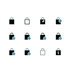Shopping bag duotone icons on white background vector