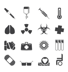 Medical themed icons and warning-signs vector