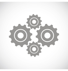 Mechanism black icon vector