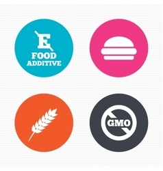 Food additive icon hamburger fast food sign vector