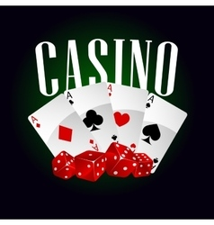 Casino dice and poker cards vector