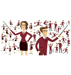 Business people business motion women men vector