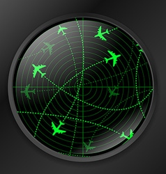 Radar with planes vector
