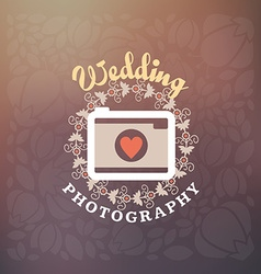 Photography logo design template retro badge vector