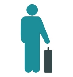 Passenger baggage flat icon vector