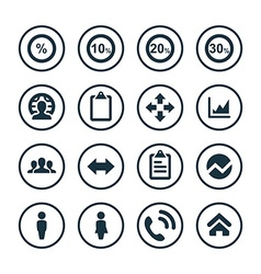 Analytics research icons universal set vector