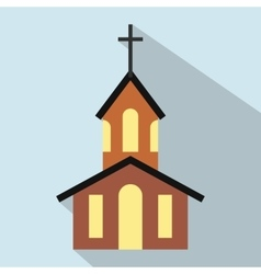 Church flat icon vector