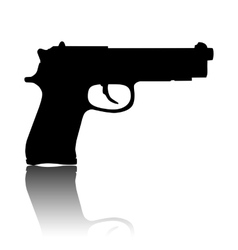 Gun isolated on white vector