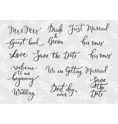 Wedding simple lettering decor vector