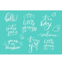 Baby photography family overlay set vector